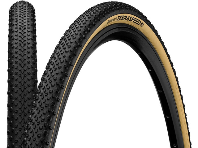 """Continental Terra Speed ProTection Folding Tyre TLR 27.5x1.50"""", negro/beige"""